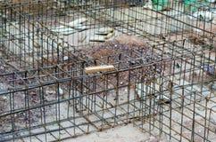 Mucchio dei coni retinici d'acciaio per costruzione Immagine Stock Libera da Diritti