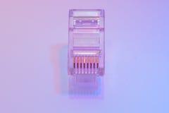 Mucchio dei connettori di Ethernet RJ45 Fotografia Stock Libera da Diritti