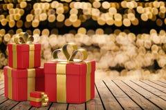 Mucchio dei contenitori di regalo Immagini Stock Libere da Diritti