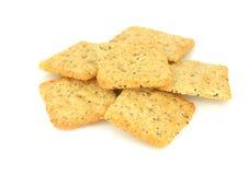 Mucchio dei cracker Immagini Stock
