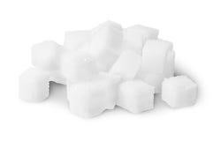 Mucchio dei cubi dello zucchero Immagini Stock Libere da Diritti