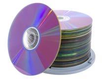 Mucchio dei dischi cd Fotografia Stock