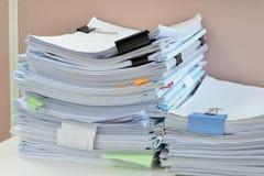 Mucchio dei documenti Fotografia Stock