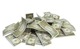 Mucchio dei dollari Fotografie Stock Libere da Diritti
