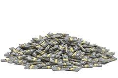 Mucchio dei dollari Immagine Stock Libera da Diritti