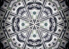 Mucchio dei dollari, priorità bassa dei soldi Cento fatture del dollaro Fotografie Stock