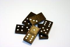 Mucchio dei domino Fotografia Stock Libera da Diritti