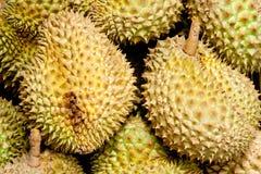 Mucchio dei Durians fotografie stock