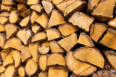 Mucchio dei firewoods tagliati Fotografia Stock Libera da Diritti