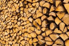 Mucchio dei firewoods tagliati Fotografia Stock