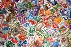 Mucchio dei francobolli degli Stati Uniti Fotografia Stock