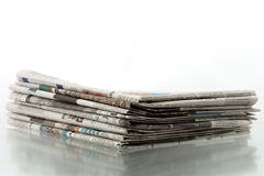 Mucchio dei giornali 1 Immagini Stock Libere da Diritti