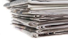 Mucchio dei giornali Immagine Stock