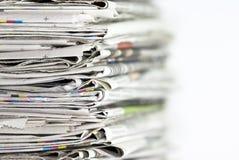 Mucchio dei giornali Fotografie Stock Libere da Diritti