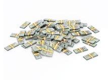 Mucchio dei gruppi del dollaro Fotografie Stock Libere da Diritti