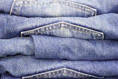 Mucchio dei jeans Fotografia Stock Libera da Diritti