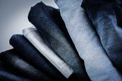Mucchio dei jeans Fotografia Stock