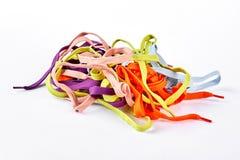 Mucchio dei laccetti multicolori Immagine Stock