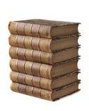 Mucchio dei libri antichi Fotografia Stock