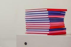 Mucchio dei libri di scuola dell'istituto universitario Fotografia Stock Libera da Diritti