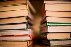 Mucchio dei libri impilati Fotografia Stock Libera da Diritti