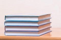 Mucchio dei libri su un fondo leggero Immagini Stock