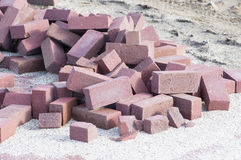 Mucchio dei mattoni della costruzione Immagini Stock Libere da Diritti