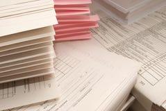 Mucchio dei moduli di carta Fotografia Stock Libera da Diritti
