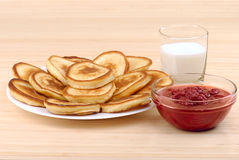 Mucchio dei pancake fotografie stock libere da diritti