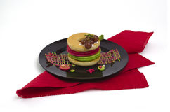 Mucchio dei pancake colourful Immagine Stock