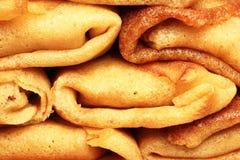 Mucchio dei pancake russi nuovo-cotti Immagini Stock Libere da Diritti