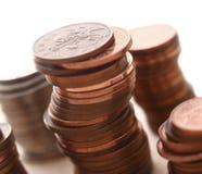 Mucchio dei penny immagine stock libera da diritti