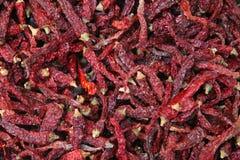 Mucchio dei peperoncini rossi secchi Immagine Stock