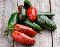 Mucchio dei peperoni di peperoncino rosso Fotografia Stock Libera da Diritti