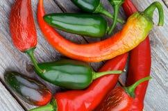 Mucchio dei peperoni di peperoncino rosso Immagini Stock Libere da Diritti