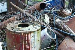 Mucchio dei rifiuti del metallo Immagine Stock Libera da Diritti