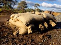Mucchio dei sacchetti di sabbia Fotografia Stock