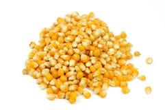 Mucchio dei semi del cereale su bianco Fotografie Stock Libere da Diritti