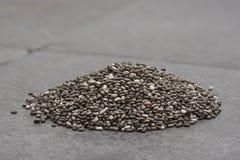 Mucchio dei semi di Chia fotografia stock