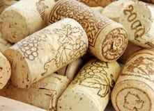 Mucchio dei sugheri del vino Fotografia Stock Libera da Diritti