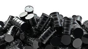 Mucchio dei tamburi di olio Fotografia Stock Libera da Diritti