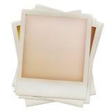 Mucchio dei telai di pellicola istanti in bianco grungy Fotografia Stock Libera da Diritti
