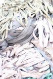 Mucchio dei tessuti elastici Fotografia Stock Libera da Diritti
