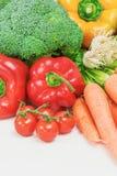 Mucchio dei tipi differenti di verdure fotografie stock libere da diritti