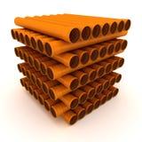 Mucchio dei tubi illustrazione di stock