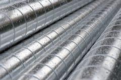 Mucchio dei tubi del metallo Immagini Stock