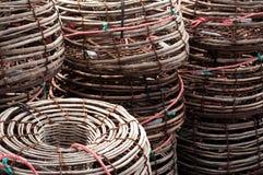 Mucchio dei vasi di aragosta Fotografia Stock Libera da Diritti