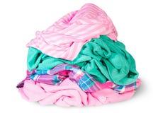 Mucchio dei vestiti sgualciti Fotografie Stock Libere da Diritti