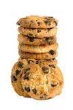 Mucchio del biscotto con di pepita di cioccolato Fotografia Stock Libera da Diritti