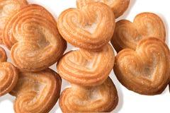 Mucchio del biscotto a forma di del cuore, Immagine Stock